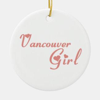 Vancouver Girl Round Ceramic Decoration