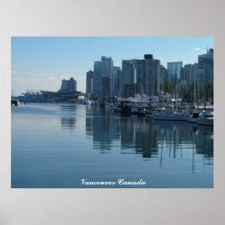 Vancouver Poster Print Vancouver Cityscape Print