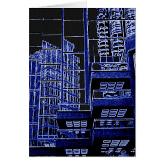 Vancouver reflections in blue multiuse card