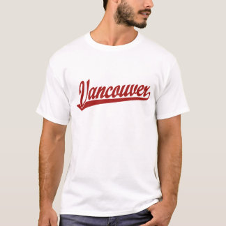 Vancouver script logo in red T-Shirt