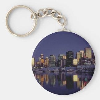Vancouver skyline, British Columbia, Canada Keychain