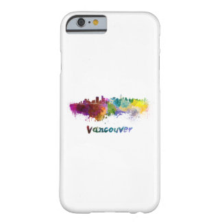 Vancouver skyline in watercolor barely there iPhone 6 case