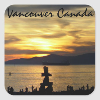 Vancouver Souvenir Stickers Landmark Souvenir Art
