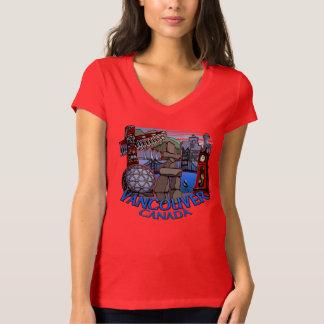 Vancouver Souvenir Women's T-shirt Landmark Art