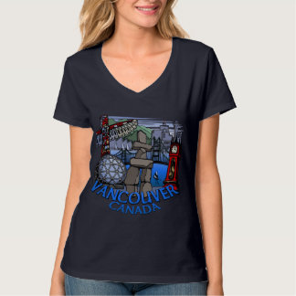 Vancouver Souvenir Women's T-shirt Landmark Art