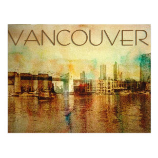 Vancouver Water Colour Postcard