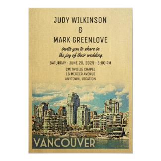 Vancouver Wedding Invitation Canada