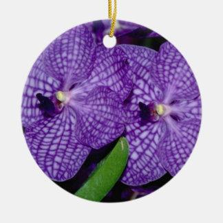 Vanda flowers ceramic ornament