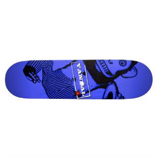 VANDAL★ Skateboard Monkey Shines (White on Blue)