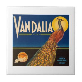 Vandalia Brand Vintage Crate Label Tile