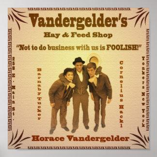 Vandergelder's Hay & Feed Shop poster