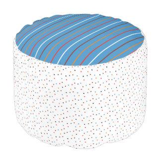 Vangogh Dots & Stripe mix Pouf
