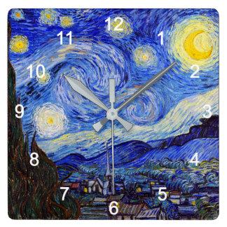 "VanGogh, ""Starry Night"" Wall Clocks"