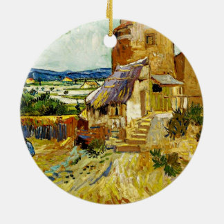 VanGogh - The Old Mill Round Ceramic Decoration