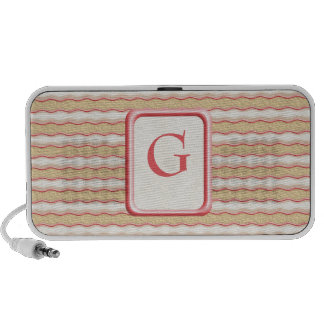 Vanilla and Strawberry Striped Shortbread Cookies Travelling Speaker