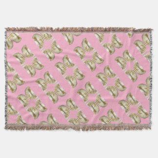 Vanilla Butterfly Throw Blanket