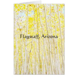 Vanilla Cake Aspen trees Flagstaff, Arizona Card