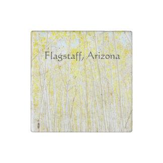 Vanilla Cake Aspen trees Flagstaff, Arizona Stone Magnet