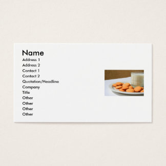 Vanilla Cookies and a Glass of Milk Business Card