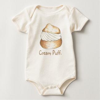 Vanilla Cream Puff Puffs Creampuff Pastry Foodie Baby Bodysuit
