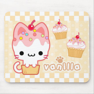 Vanilla Cupcake Kitty Mousepad