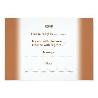 Vanilla Cupcake on Brown. 9 Cm X 13 Cm Invitation Card