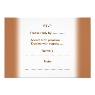 Vanilla Cupcake on Brown Custom Invites