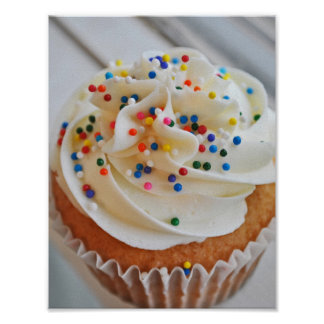 Vanilla Cupcake  Photograph l Print