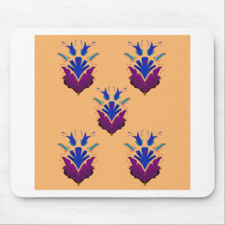VANILLA handdrawn Ethno Flowers / Original design Mouse Pad