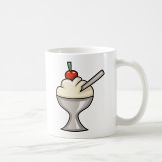 VANILLA ICE-CREAM CHERRY TOP DESSERTS SWEETS YUMM COFFEE MUG