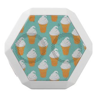 Vanilla Ice Cream Cone Pattern White Boombot Rex Bluetooth Speaker