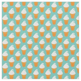 Vanilla Ice Cream Cone Pattern Fabric