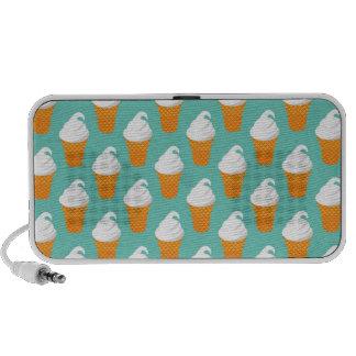 Vanilla Ice Cream Cone Pattern Laptop Speaker