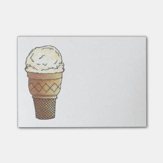Vanilla Ice Cream Cone Scoop Sweet Foodie Post Its Post-it Notes
