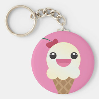 Vanilla Ice Cream Keychain