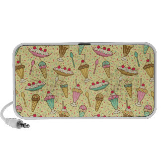 Vanilla Ice Cream Travel Speakers