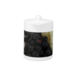 Vanilla ice cream with uncultivated bilberries