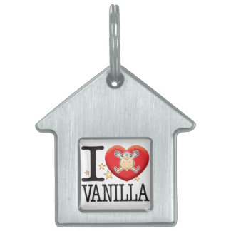 Vanilla Love Man Pet Name Tag