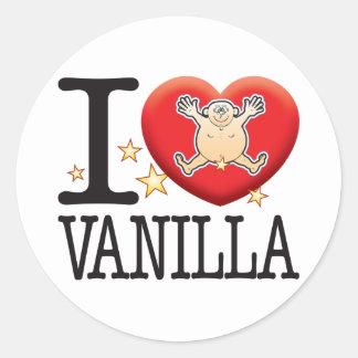 Vanilla Love Man Round Sticker