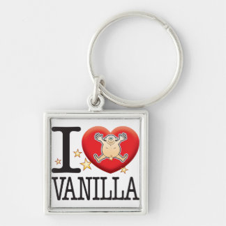 Vanilla Love Man Silver-Colored Square Key Ring