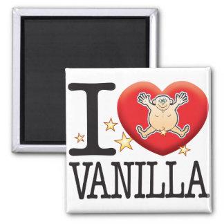 Vanilla Love Man Square Magnet