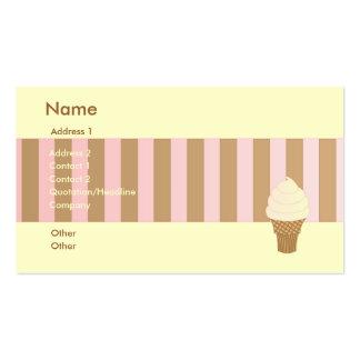 Vanilla Soft Serve Business Cards