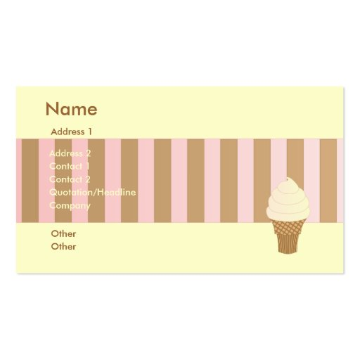 Vanilla Soft Serve Business Cards