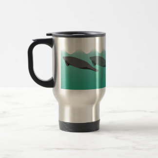 Vanishing Manatees left-clear-background mug