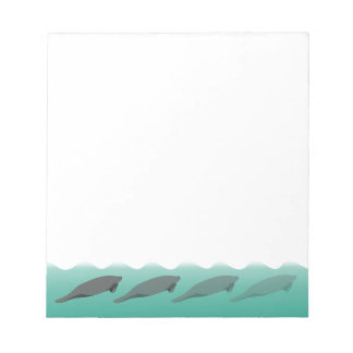 Vanishing Manatees notepad - customizable
