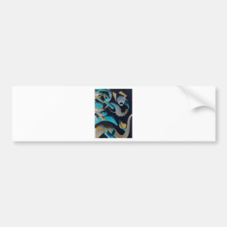 Vanishing Shapes III Bumper Stickers