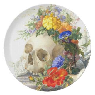 Vanitas Skull Bouquet Plate