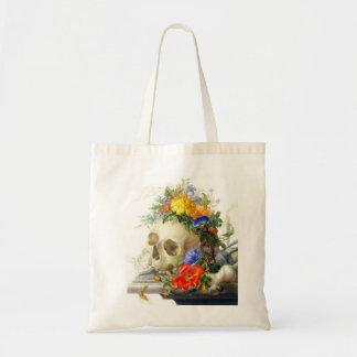 Vanitas Skull Bouquet Tote Bag