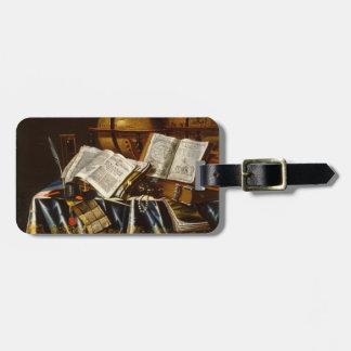 """Vanitas"" Still Life - Adam Bernaert (1665) Luggage Tag"