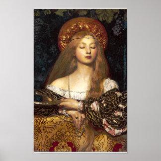 Vanity Pre-Raphaelite woman poster